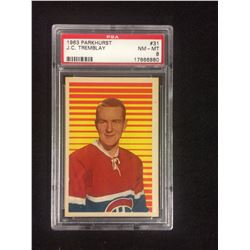 1963 PARKHURST #31 J.C TREMBLAY (NM-MT 8) PSA