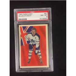 1963 PARKHURST #61 ALLAN STALEY (NM-MT 8) PSA