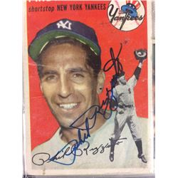 AUTOGRAPHED 1954 Topps #17 PHIL RIZZUTO New York Yankees W/ JSA COA