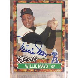 AUTOGRAPHED 1982 Topps Cracker Jack Baseball Card #13 Willie Mays (Giants)
