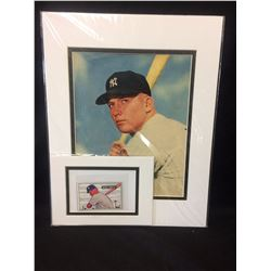 MICKEY MANTLE MATTED  PHOTO LOT