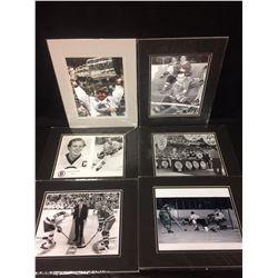 "NHL HOCKEY 8"" X 10"" MATTED PHOTOS LOT (CASHMAN, BOURQUE & MORE)"