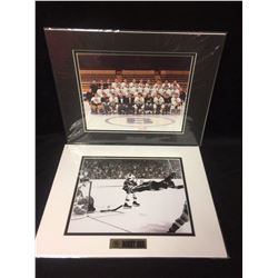 "BOSTON BRUINS 8"" X 10"" MATTED PHOTO LOT (TEAM PHOTO, BOBBY ORR)"