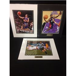 "BASKETBALL & SOCCER  8"" X 10"" MATTED PHOTOS LOT"