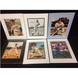 "VINTAGE BASEBALL 8"" X 10"" MATTED PHOTOS LOT"