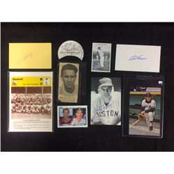 AUTOGRAPHED BASEBALL COLLAGE LOT
