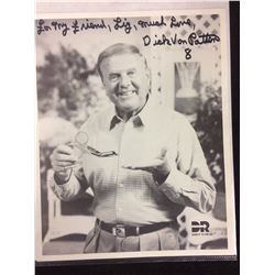 "DICK VAN PATTEN AUTOGRAPHED 8"" X 10"" PHOTO"