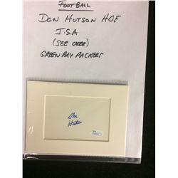 DON HUTSON AUTOGRAPH W/ JSA COA (GREEN BAY PACKERS)