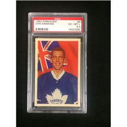 1963 PARKHURST #2 DON SIMMONS (EX-MT +6.5) PSA
