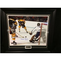 "BOBBY ORR AUTOGRAPHED 26"" X 22"" FRAMED PHOTO W/ PSA COA"