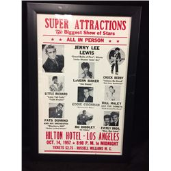 "1957 SUPER ATTRACTIONS 16"" X 24"" FRAMED SHOW POSTER (BIGGEST SHOW OF STARS)"