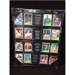 "BASEBALL TRADING CARDS 16"" X 24"" FRAMED DISPLAY"