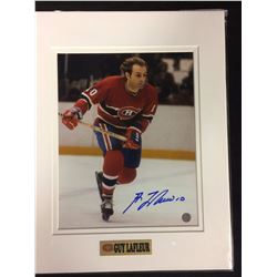 "GUY LAFLEUR AUTOGRAPHED 8"" X 10"" PHOTO W/ BOSSA COA"