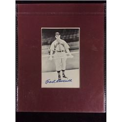EARL AVERILL AUTOGRAPHED PHOTO (CLEVELAND)