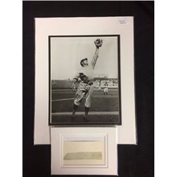 GOOSE GOSLIN AUTOGRAPH CUT & PHOTO W/ JSA COA
