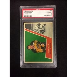 1963 TOPPS #7 TED GREEN (EX-MT 6) PSA
