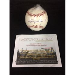 MARIANO RIVERA AUTOGRAPHED BASEBALL W/ INVESTORS COLLECTION  COA