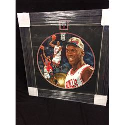 "MICHAEL JORDAN ORIGINALFRAMED PAINTING BY GLEN GREEN (26"" X 26"")"