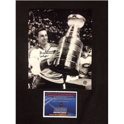 "JEAN BELIVEAU AUTOGRAPHED 8"" X 10"" PHOTO W/ BOSSA COA"