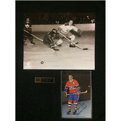 MAURICE RICHARD PHOTO LOT (ONE AUTO)