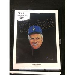 1982 UNION OIL SET TOMMY LASORDA PORTRAIT BY (VOLPE)