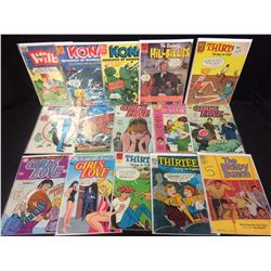 VINTAGE COMIC BOOK LOT (GIRLS LOVE, THE BRADY BUNCH, THIRTEEN & MORE)