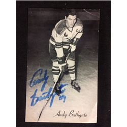VINTAGE 1960 5 X 7 SIGNED BY ANDY BATHGATE
