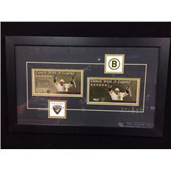 """FRAMED LIMITED EDITION """"LUNCH WITH A LEGEND"""" TICKETS VANCOUVER GIANTS"""