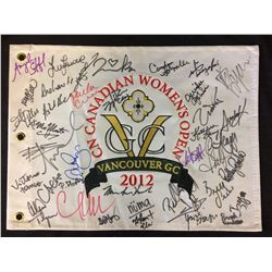 CN CANADIAN WOMENS OPEN FLAG SIGNED BY 40 WITH COA