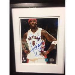 FRAMED JERMAINE ONEIL AUTOGRAPHED 8 X 10 WITH COA