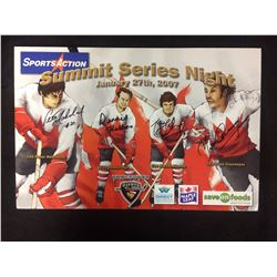 VANCOUVER GIANTS SUMMIT SERIES NIGHT 14 X 20 SIGNED BY 4 WITH COA