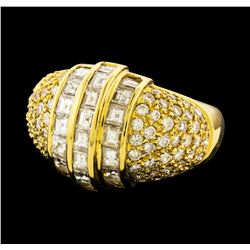 Diamond Ring - 18KT Yellow Gold