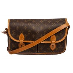 Louis Vuitton Monogram Canvas Leather Gibeciere MM Messenger Bag