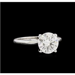 EGL USA Certified 2.01 ctw Diamond Solitaire Ring - 14KT White Gold