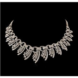 15.40 ctw Diamond Necklace - 18KT White Gold