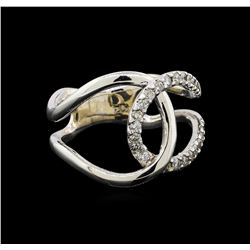 14KT White Gold 0.28 ctw Diamond Ring