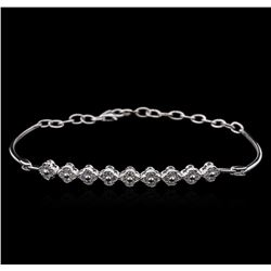 0.86 ctw Diamond Bracelet - 14KT White Gold