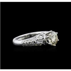 1.88 ctw Fancy Brown Diamond Ring - 18KT White Gold