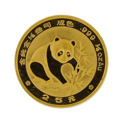 1988  1/4 oz China Panda Gold Coin
