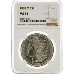 1883-O NGC MS64 Morgan Silver Dollar