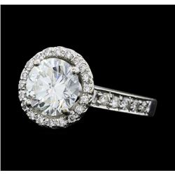 2.28 ctw Diamond Ring - 14KT White Gold