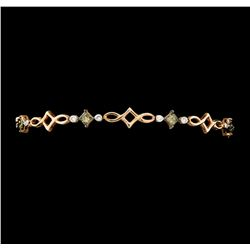 1.67 ctw Diamond Bracelet - 14KT Rose Gold