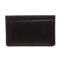 Louis Vuitton Black Epi Electric Card Holder Wallet