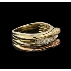 14KT Three-Tone Gold 0.27 ctw Diamond Ring