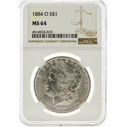 1884-O NGC MS64 Morgan Silver Dollar