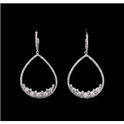 1.86 ctw Diamond Earrings - 14KT White Gold