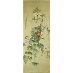 Tang Xinyu Watercolour on Paper Scroll
