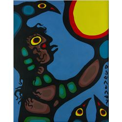 Norval Morrisseau 1931-2007 Acrylic on Canvas