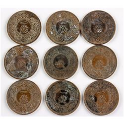 9 PC 1936 Japan 1 Sen Bronze Coin Y-47 JNDA-01-48