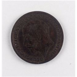1917 United Kingdom 1 Farthing Bronze KM-808.1
